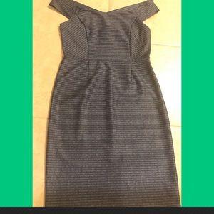 Antonio Melani blue striped dress size 12